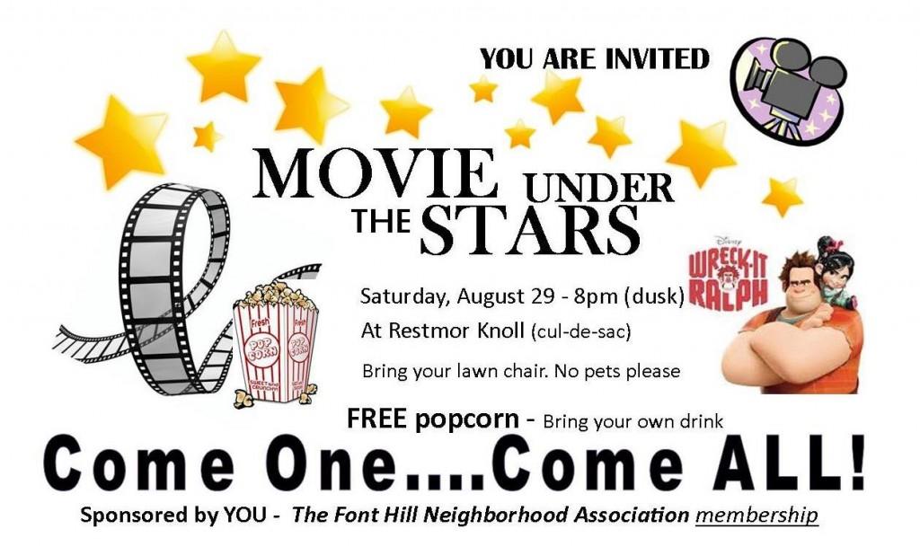 Neighborhood movie flyer