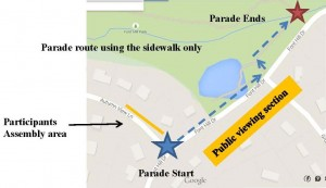 4th of July parade route