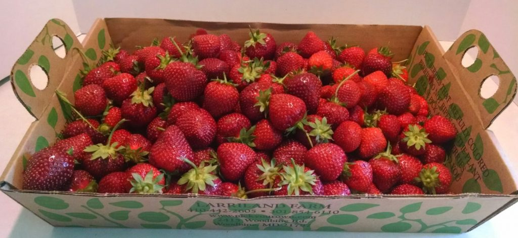 A carton full of strawberries