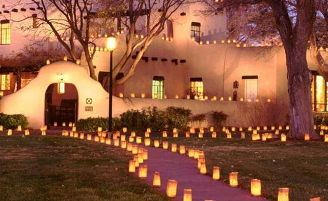 Display of Luminarias in the Southwest