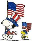 patriotic snoopy on parade