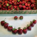 Smiley face made with strawberries