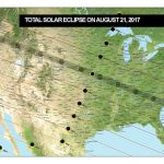 USA map showing the path of the Total Solar eclipse on August 21, 2017
